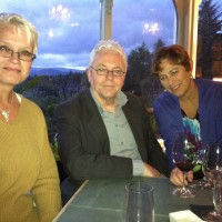 Dinner with Zoe Sharp and Stephen Gallagher in the Lake District, UK, Sept. 2012