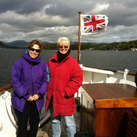 Zoe and Libby on Lake Windemere, UK, September, 2012