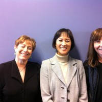 Libby, Tess Gerritsen, Cara Black at U. Mass-Artmouth, March 2013